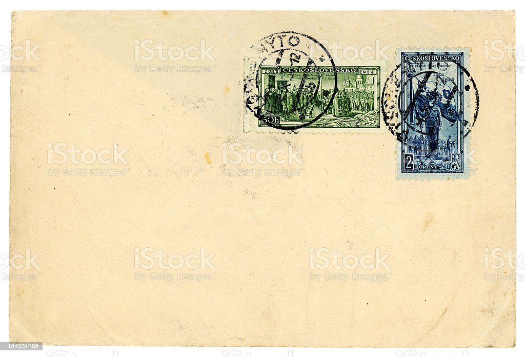 Envelope from Czechoslovakia c1930s royalty-free stock photo