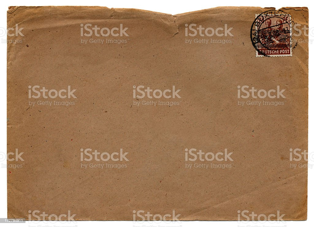Envelope from Germany 1943 stock photo
