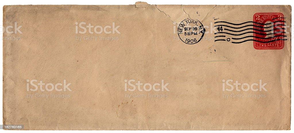 Envelope from New York, 1906 stock photo