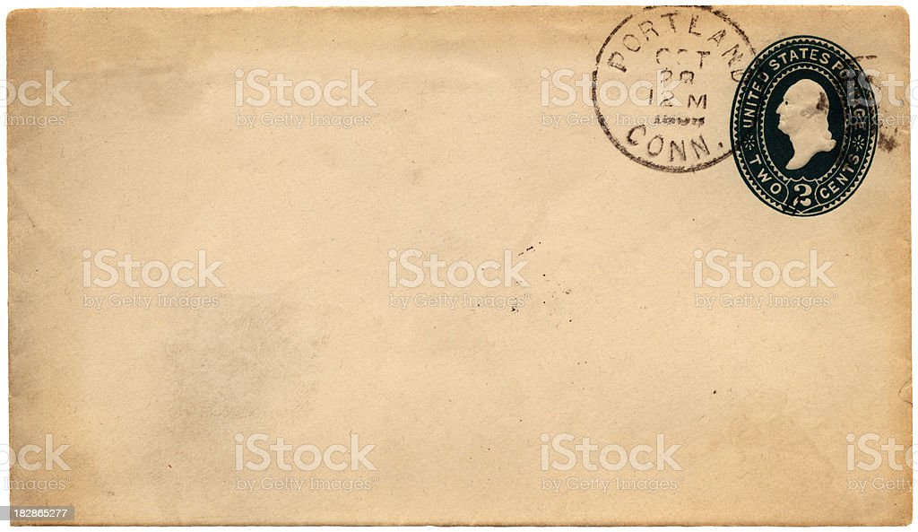 1898 envelope from Portland, Connecticut royalty-free stock photo