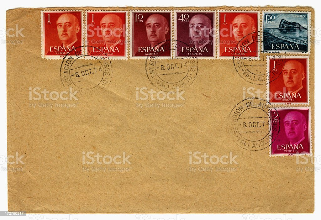 Envelope from Spain stock photo