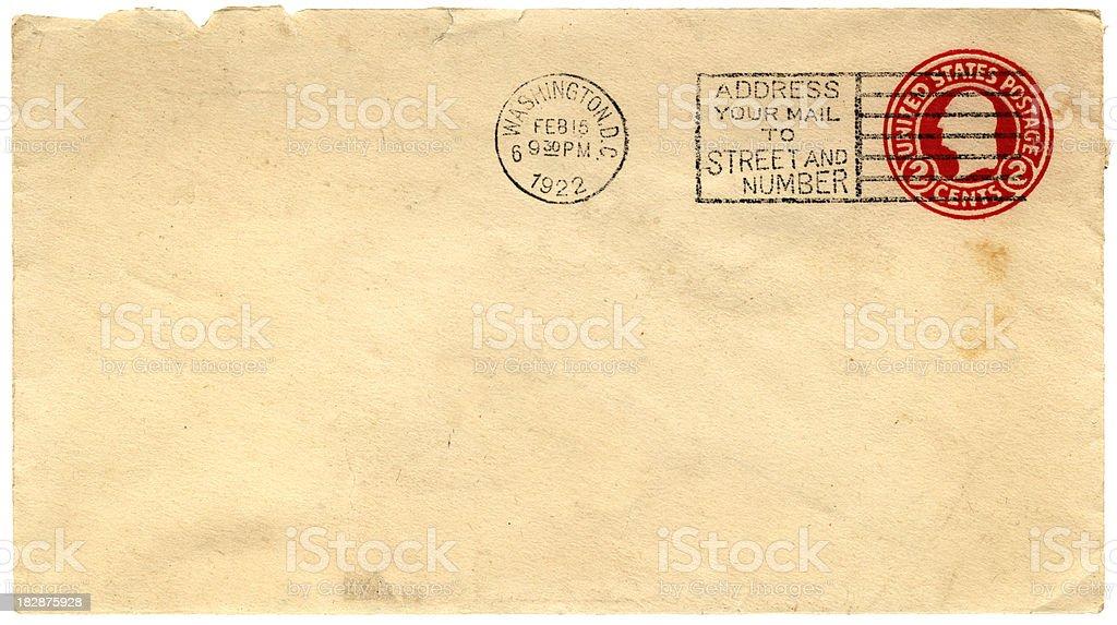 1922 envelope from Washington DC stock photo