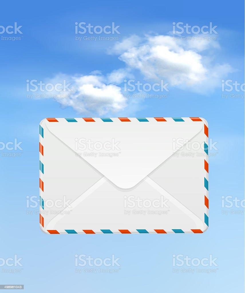 envelope in sky royalty-free stock photo