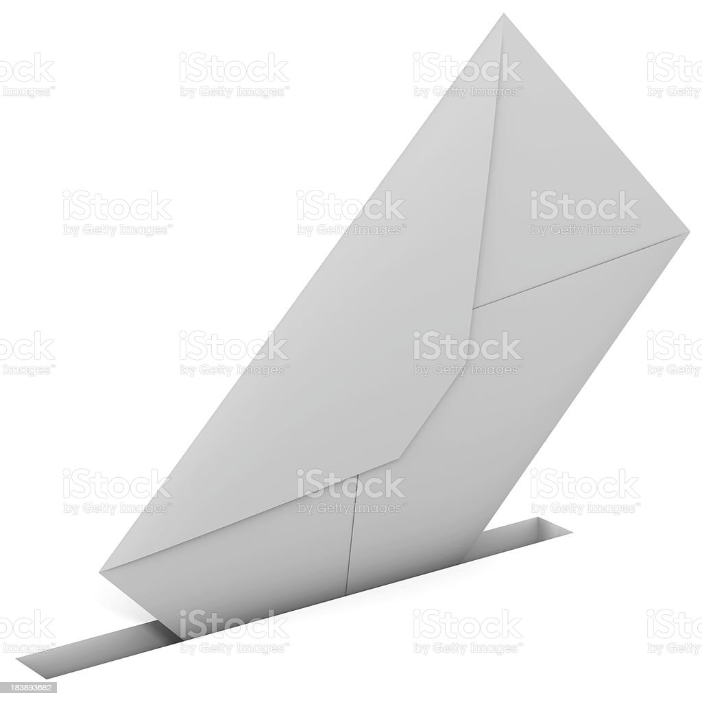 Envelope in slit royalty-free stock photo