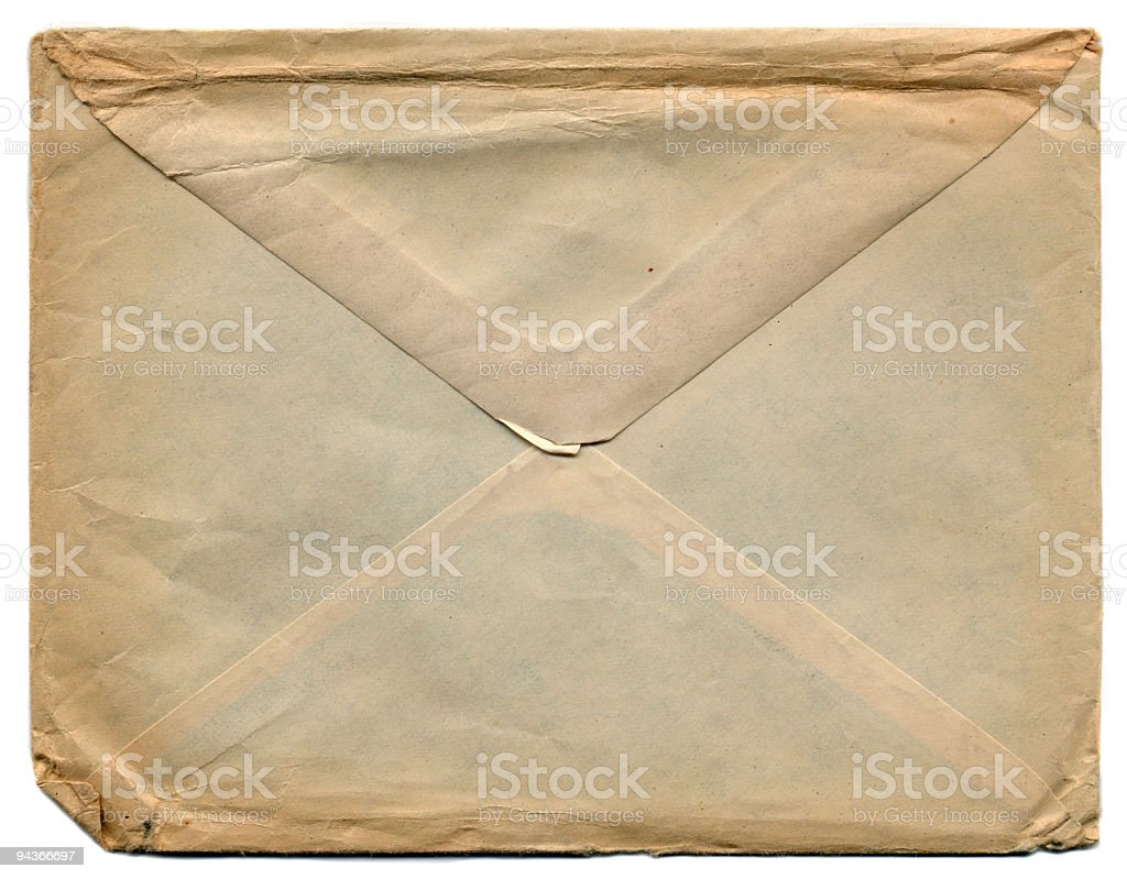 Envelope of 1920's stock photo