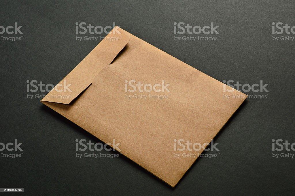 Envelope on Black Background stock photo