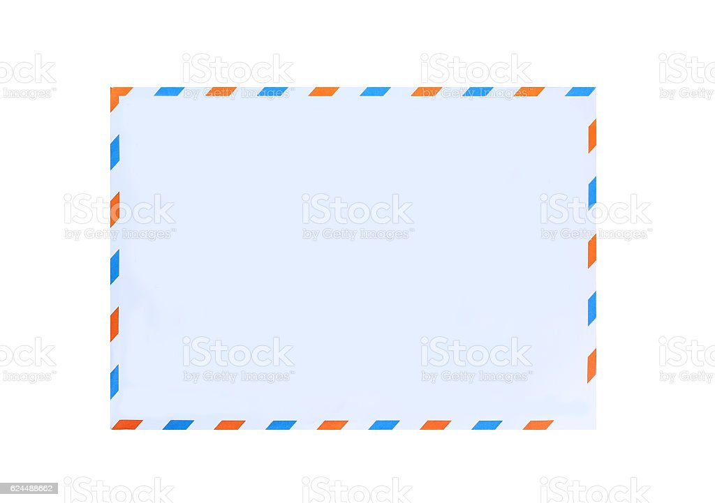 envelope on white background. stock photo