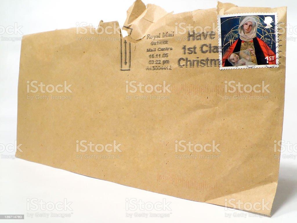 UK Envelope stock photo