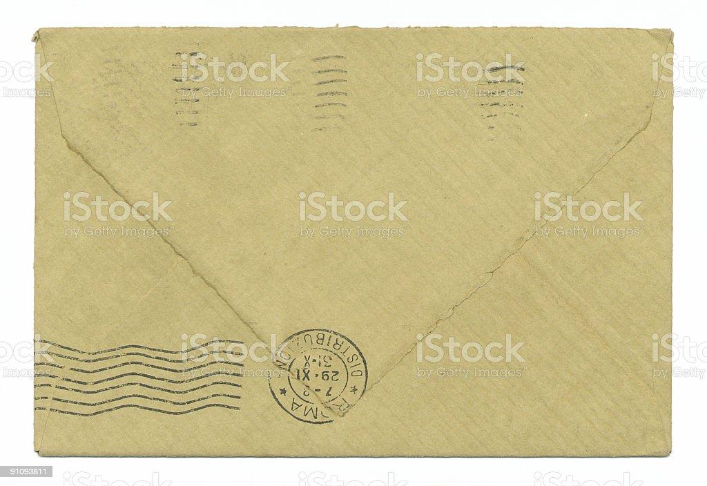 Envelope reverse royalty-free stock photo