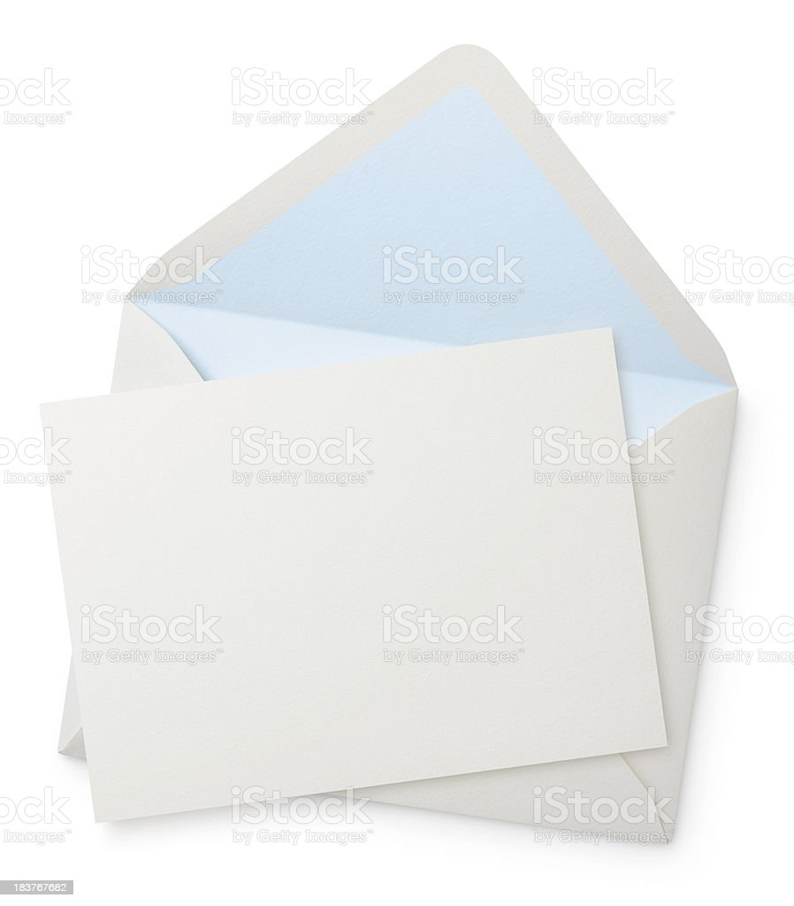 Envelope with blank note stock photo