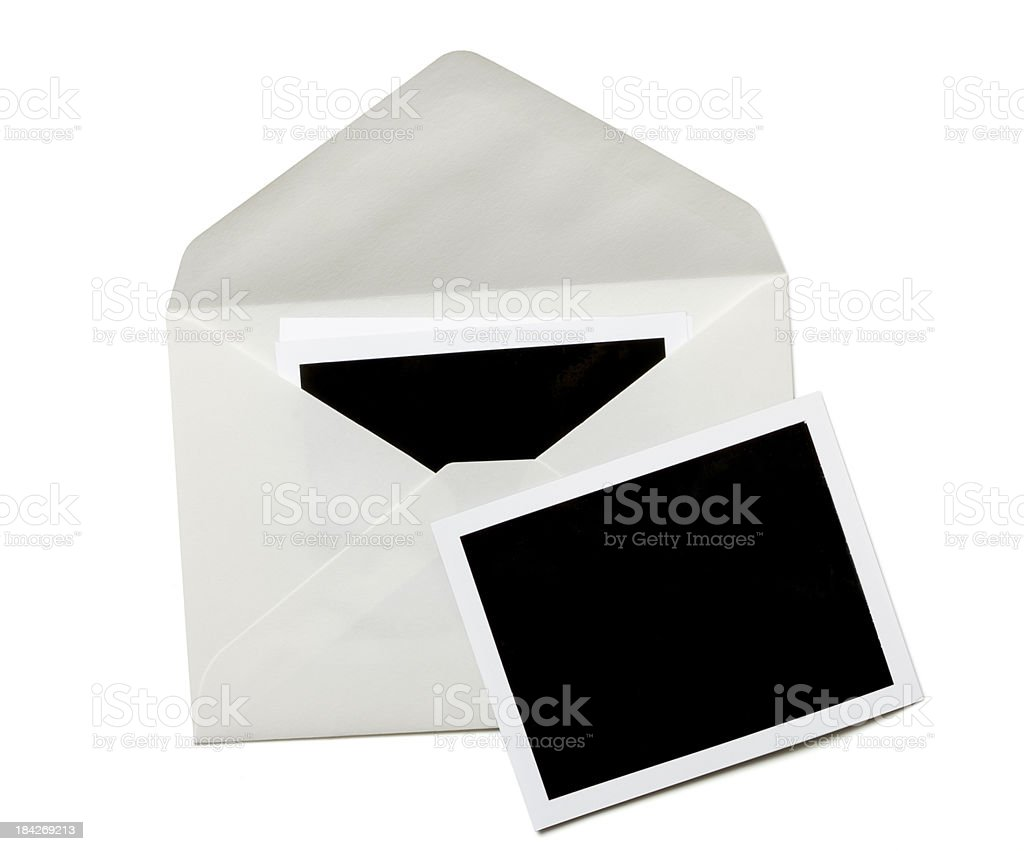 Envelope with blank photo royalty-free stock photo
