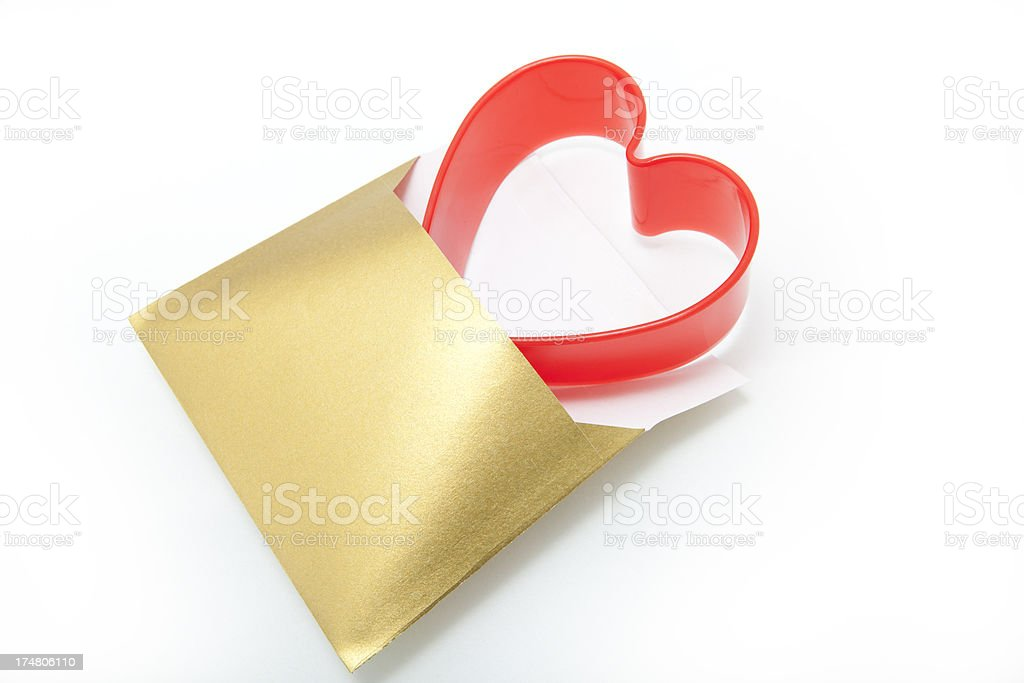 Envelope with Heart royalty-free stock photo