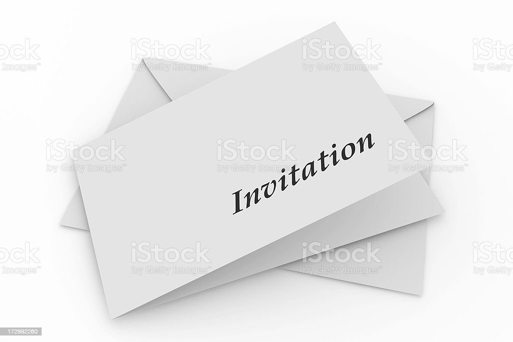 Envelope with invitation royalty-free stock photo