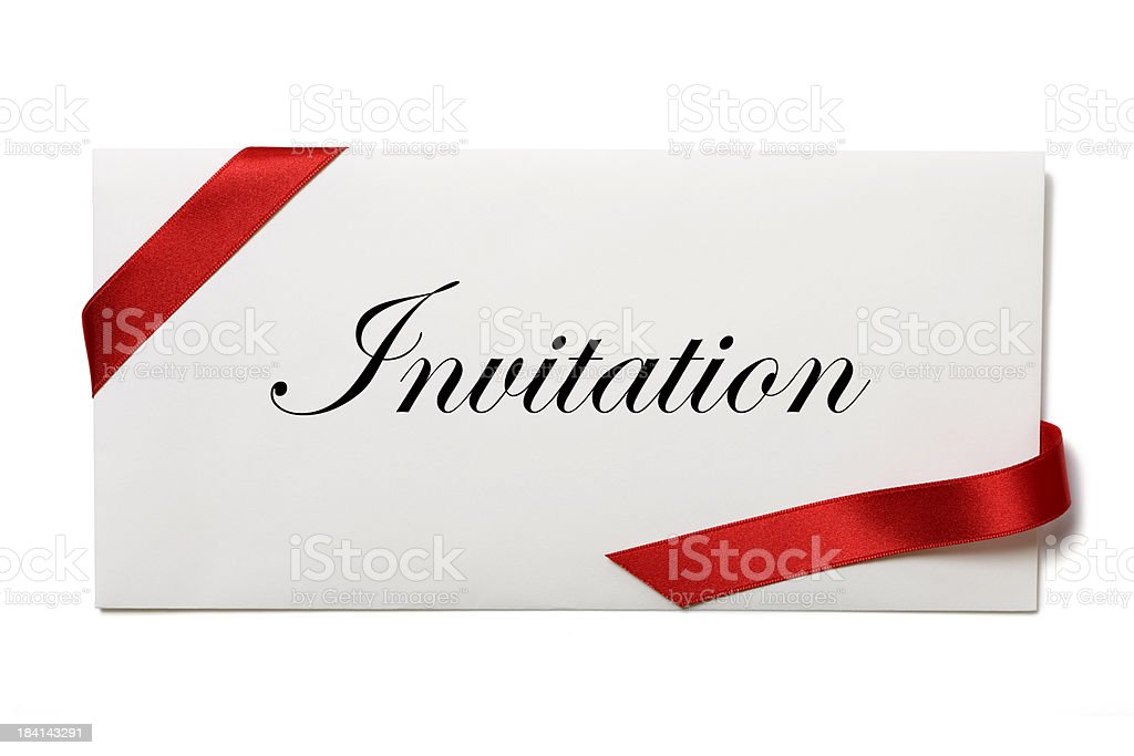 Envelope with invitation royalty-free stock photo