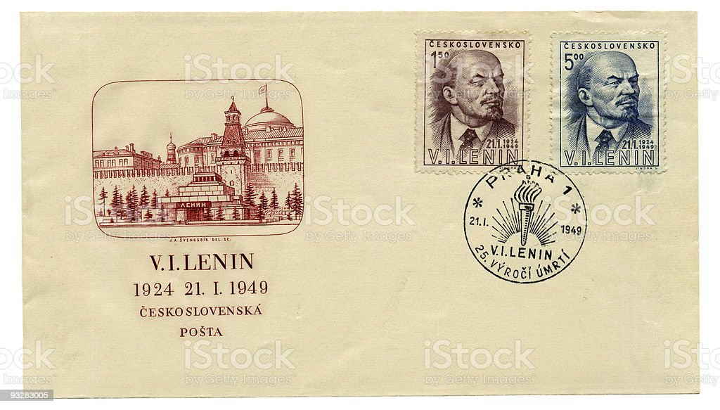Envelope with Lenin royalty-free stock photo