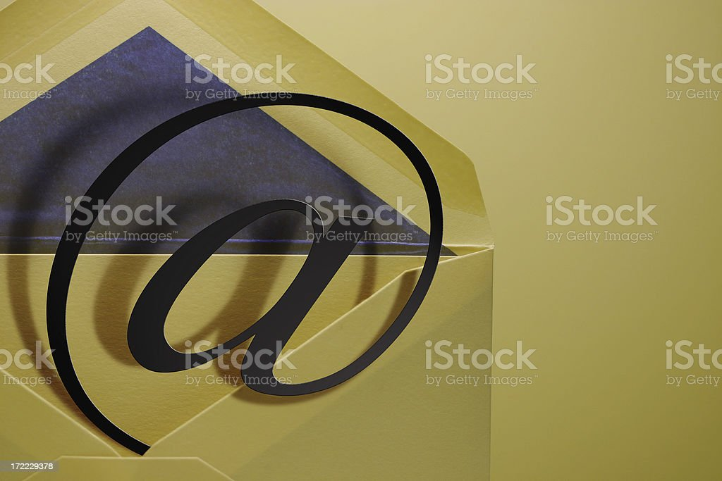 envelope with @ sign royalty-free stock photo