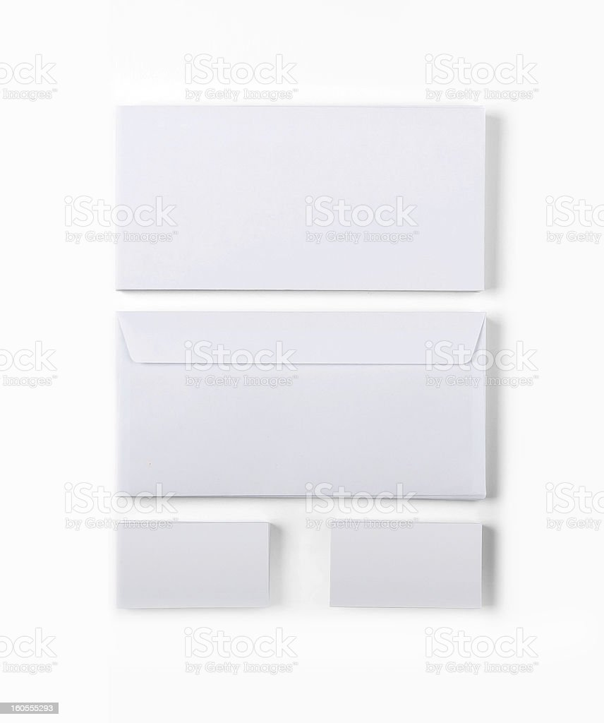 Envelopes and Business cards royalty-free stock photo