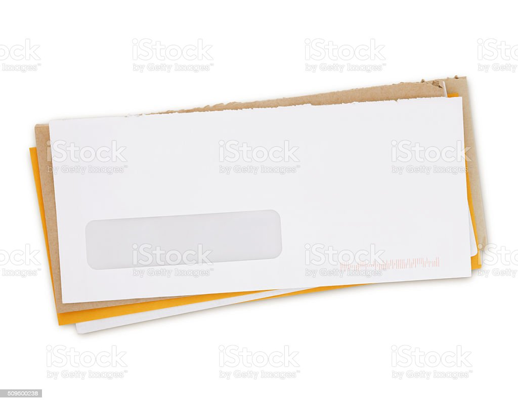 Envelopes - Bills (with path) stock photo