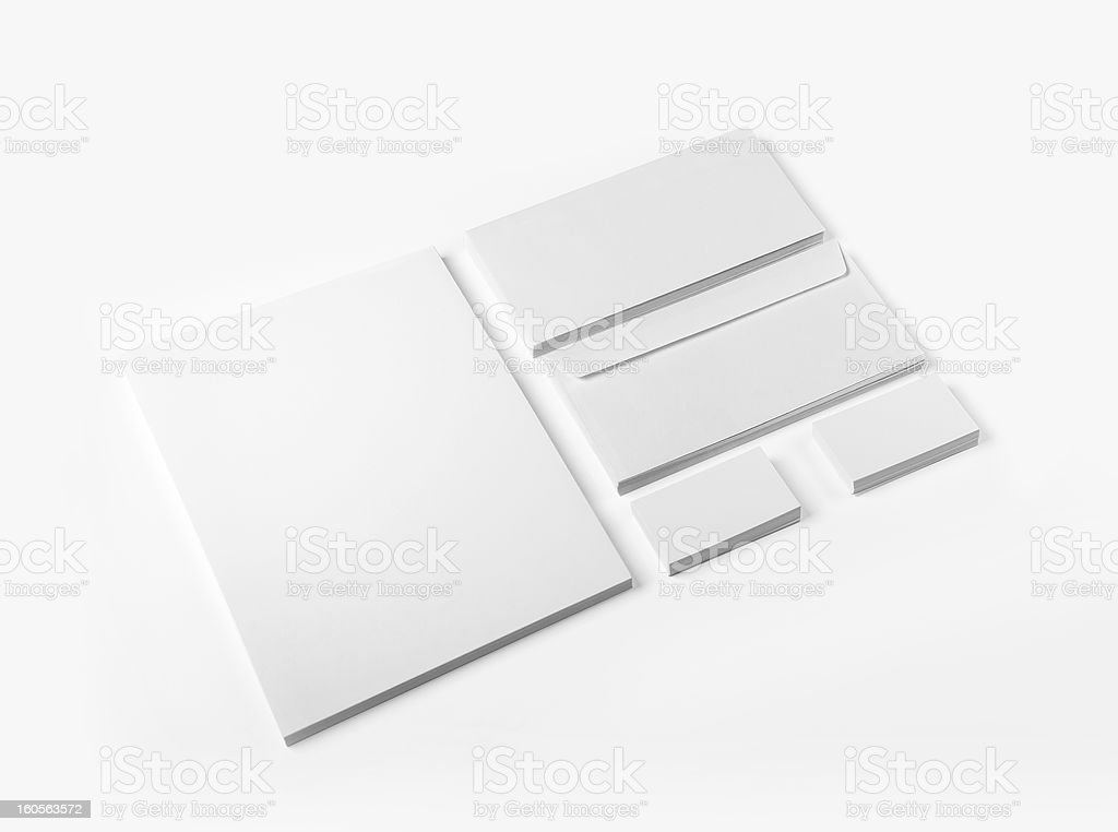 Envelopes Business card and A4 isolated stock photo
