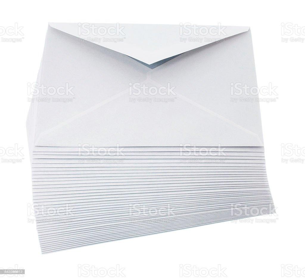envelopes isolated stock photo