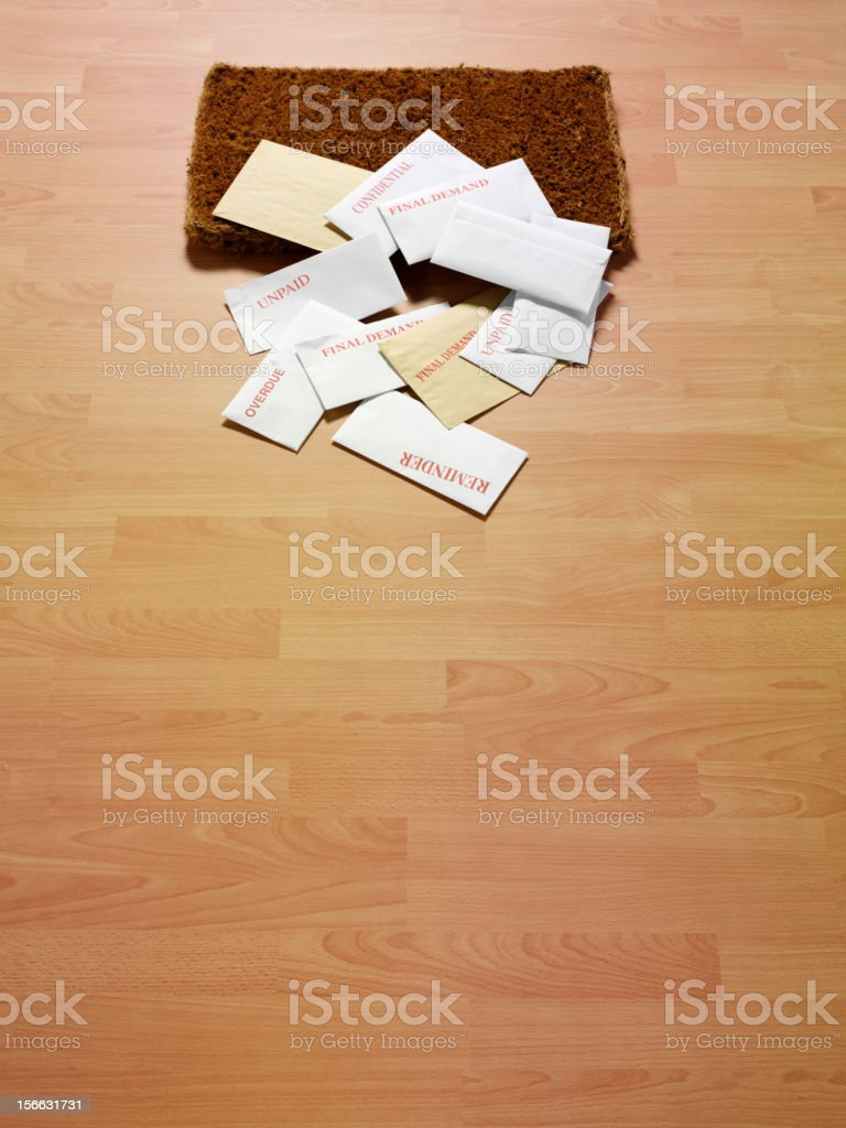 Envelopes on the Doormat royalty-free stock photo