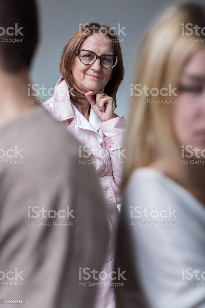 Envious mother and dispute stock photo