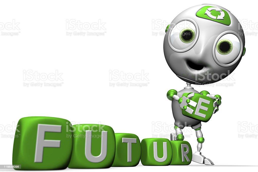 Envirobot and a Greener future royalty-free stock photo