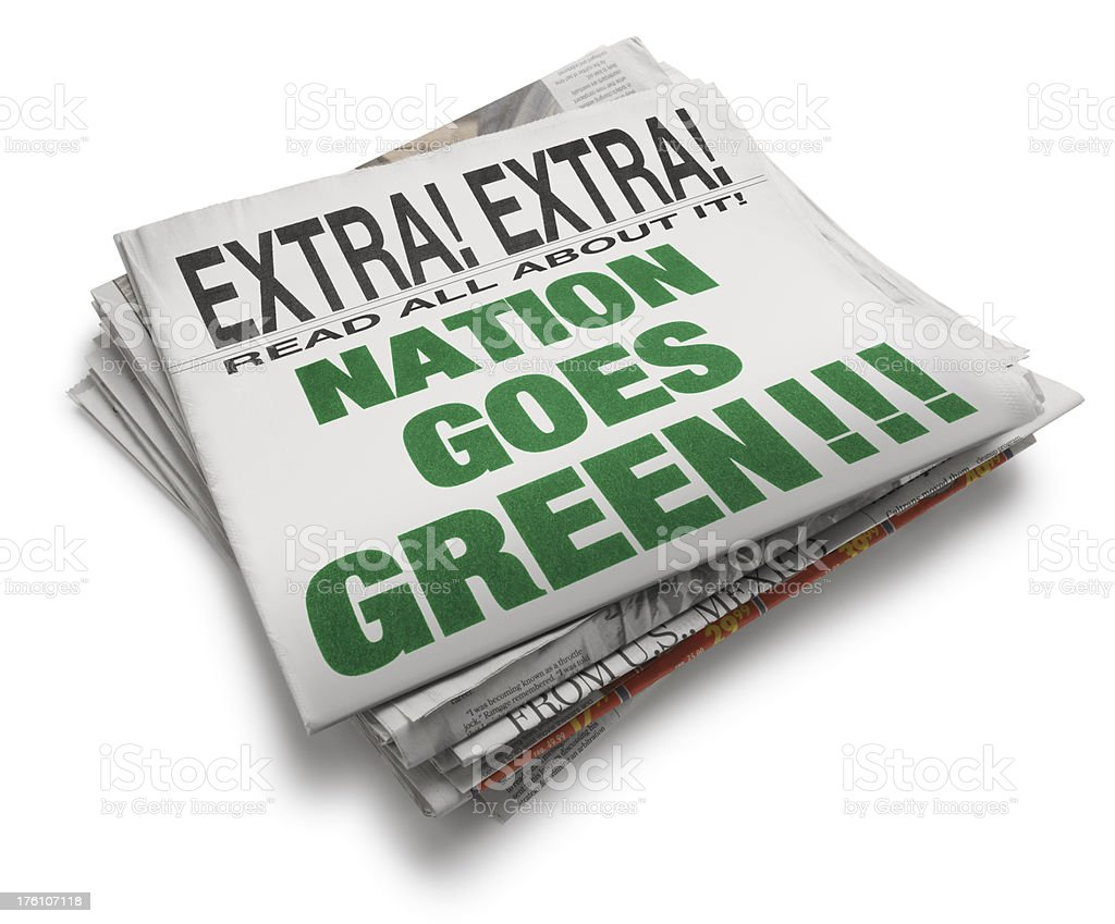 Enviromental Headline royalty-free stock photo