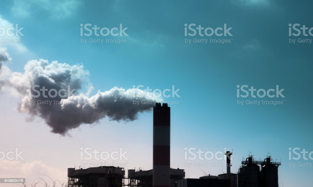 environment and industry and air pollution, dust, smog, fine dust stock photo