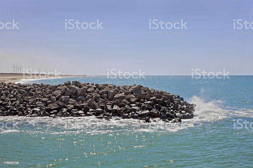 Environment Conscious Dwarka Coastline stock photo