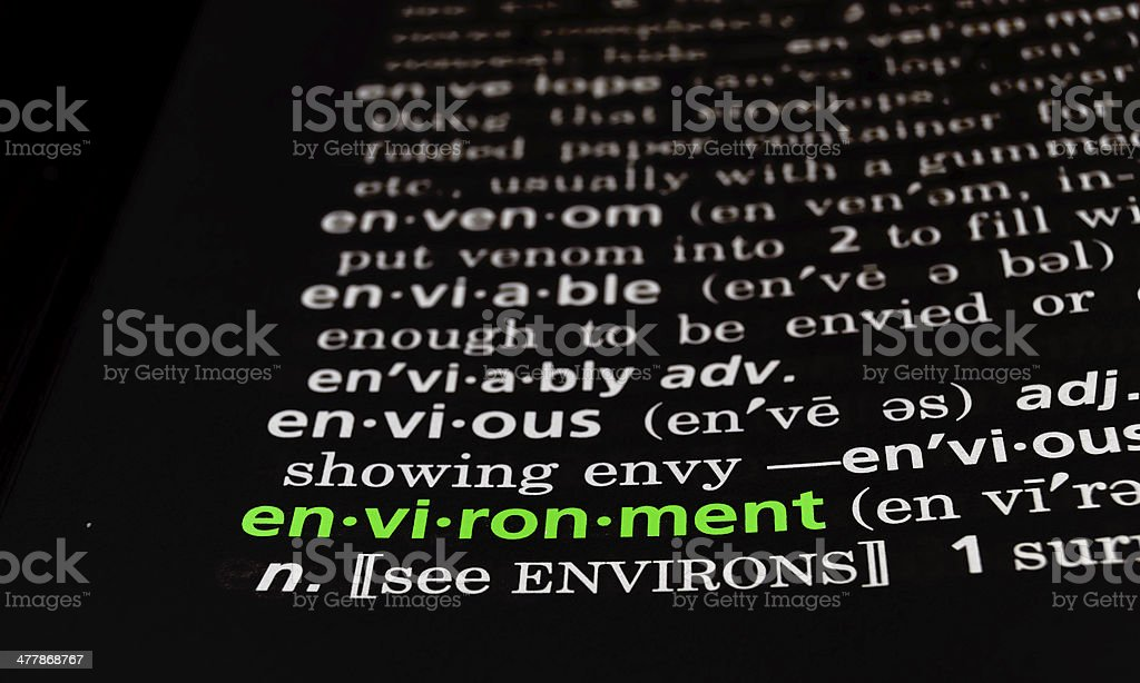 Environment Defined on Black royalty-free stock photo