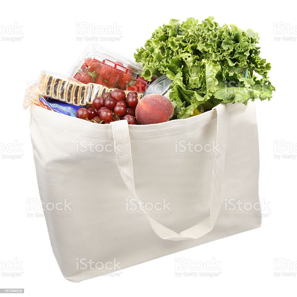 Environment Friendly Grocery Bag royalty-free stock photo