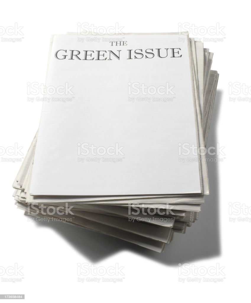 Environment Newspaper royalty-free stock photo