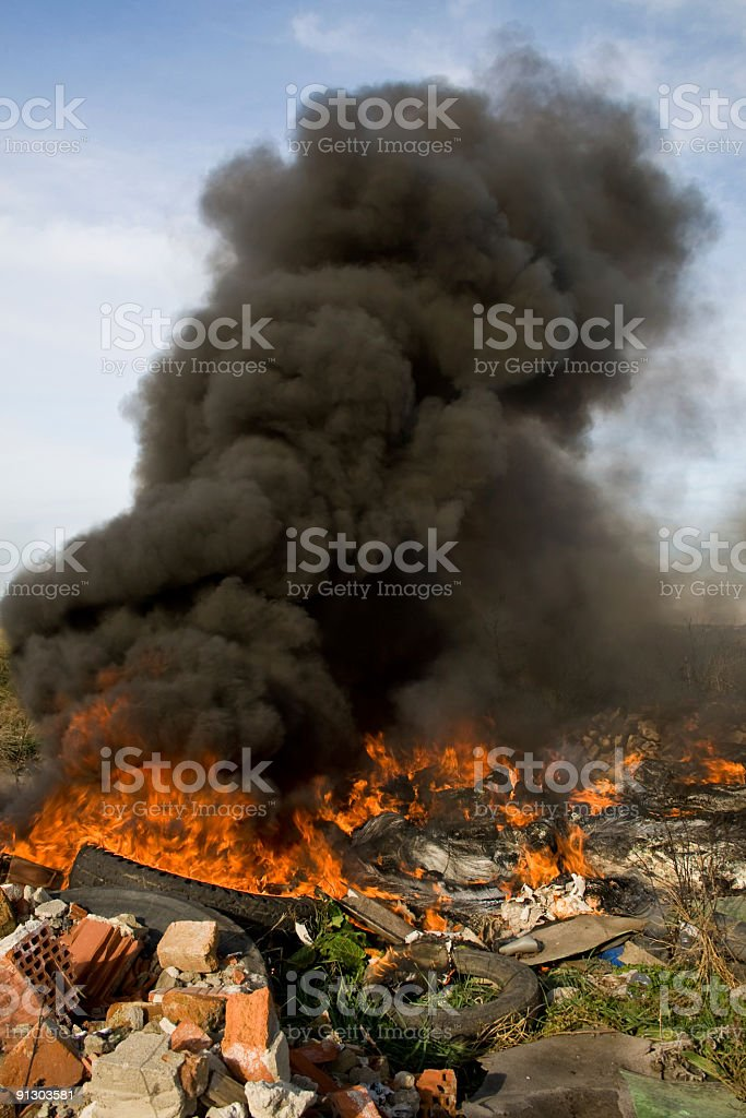 Environment pollution royalty-free stock photo