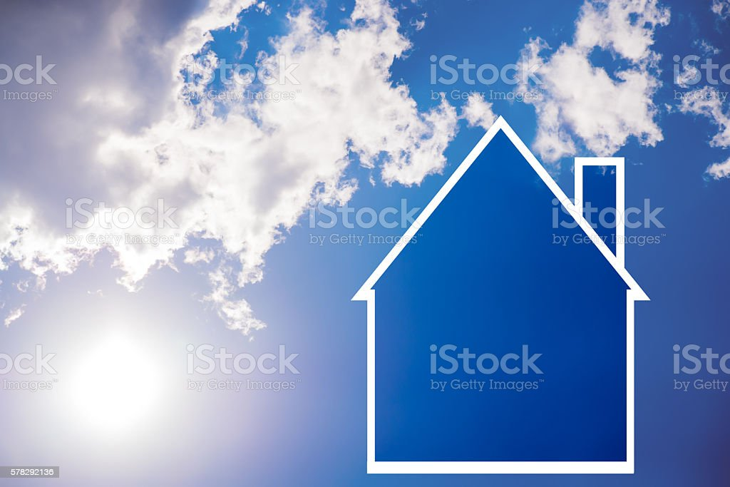 Environment, Solar Energy, Residential Building, Energy House stock photo