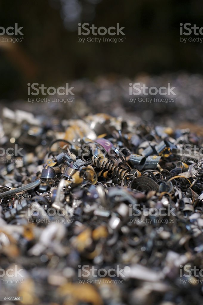 Environment - Waste Steel from Plant in Sheffield stock photo