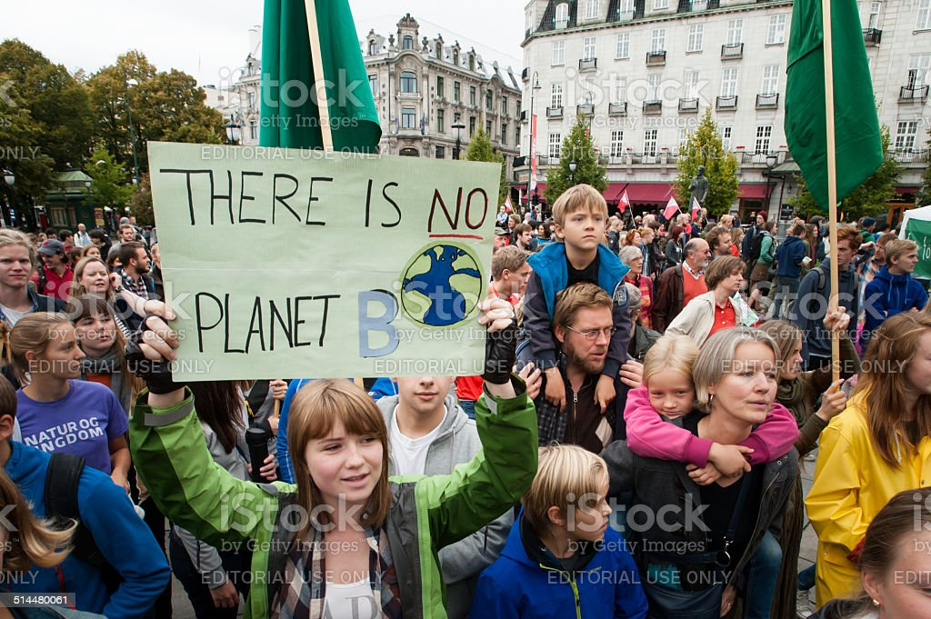Environmental activism stock photo