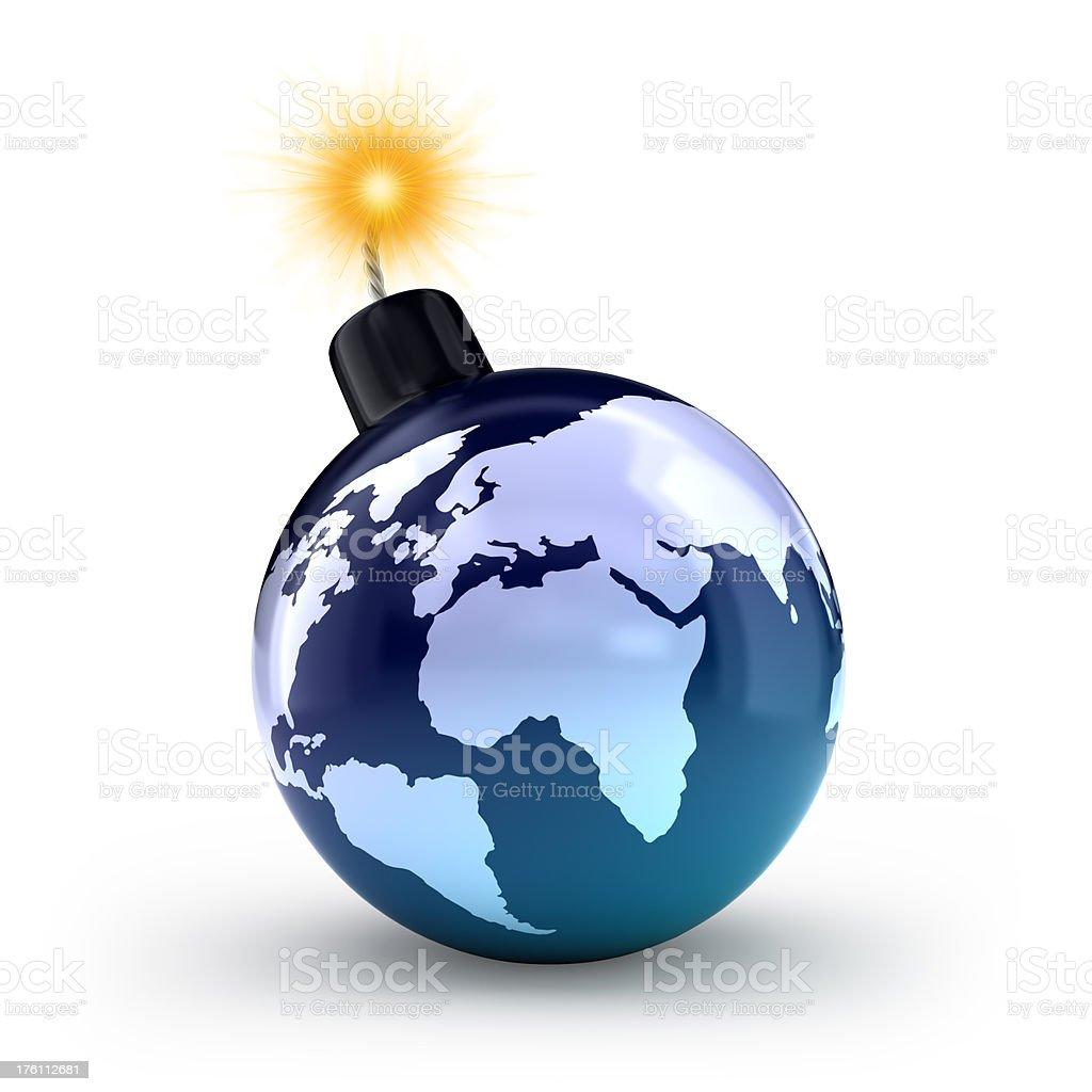 environmental bomb royalty-free stock photo