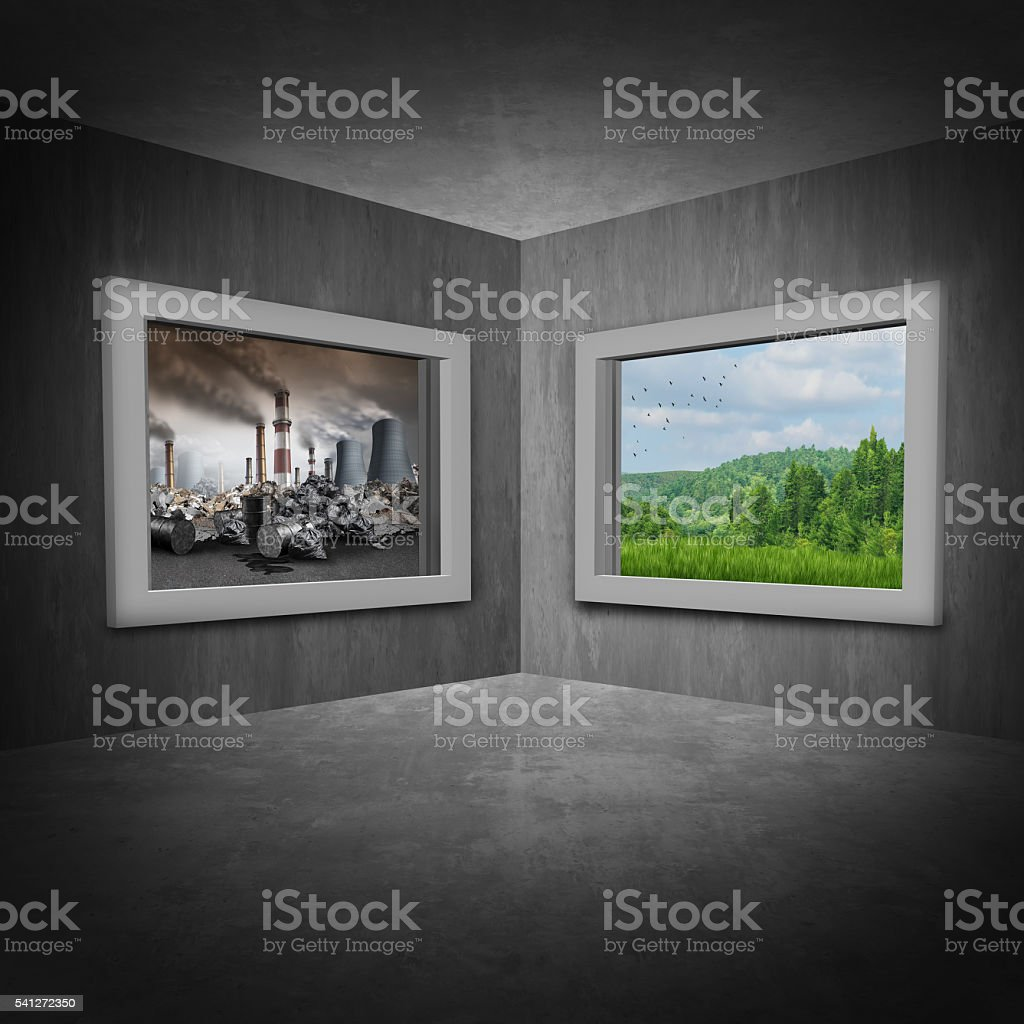 Environmental Change Concept stock photo