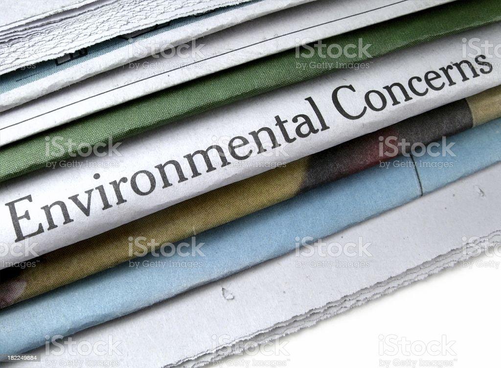 Environmental Concerns stock photo