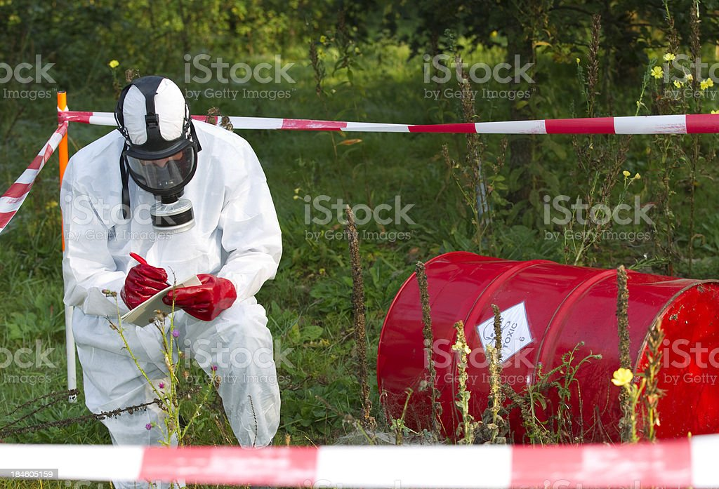 Environmental crime stock photo