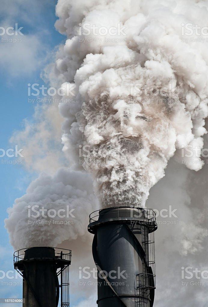 Environmental Damage: Air Pollution stock photo