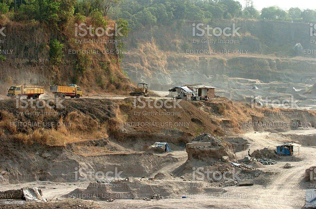 Environmental damage Indonesia stock photo