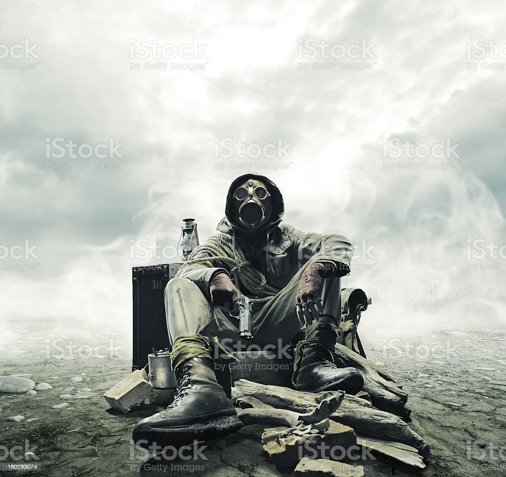 Environmental disaster stock photo