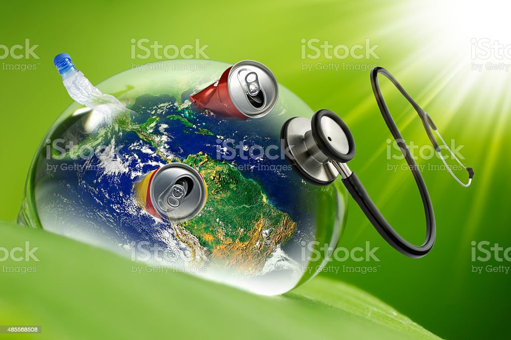 Environmental doctor - Recovery earth concept stock photo