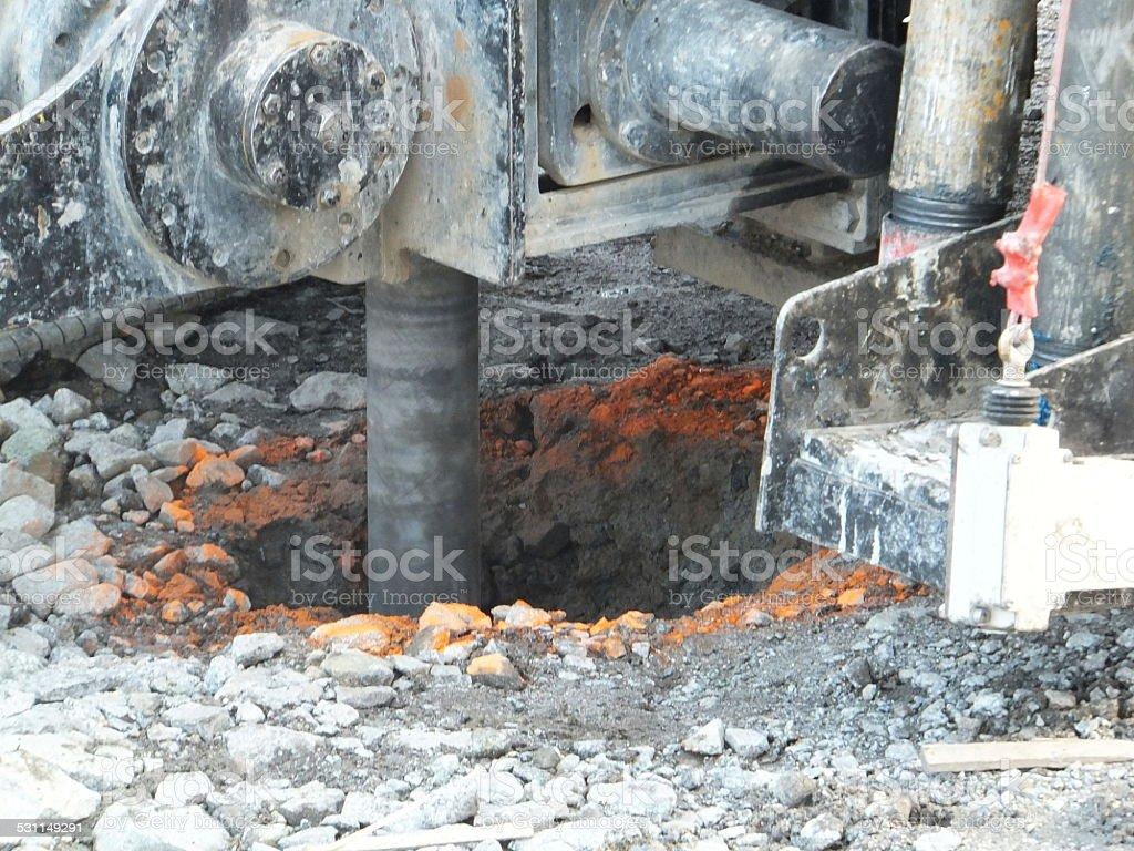 Environmental drilling machine stock photo