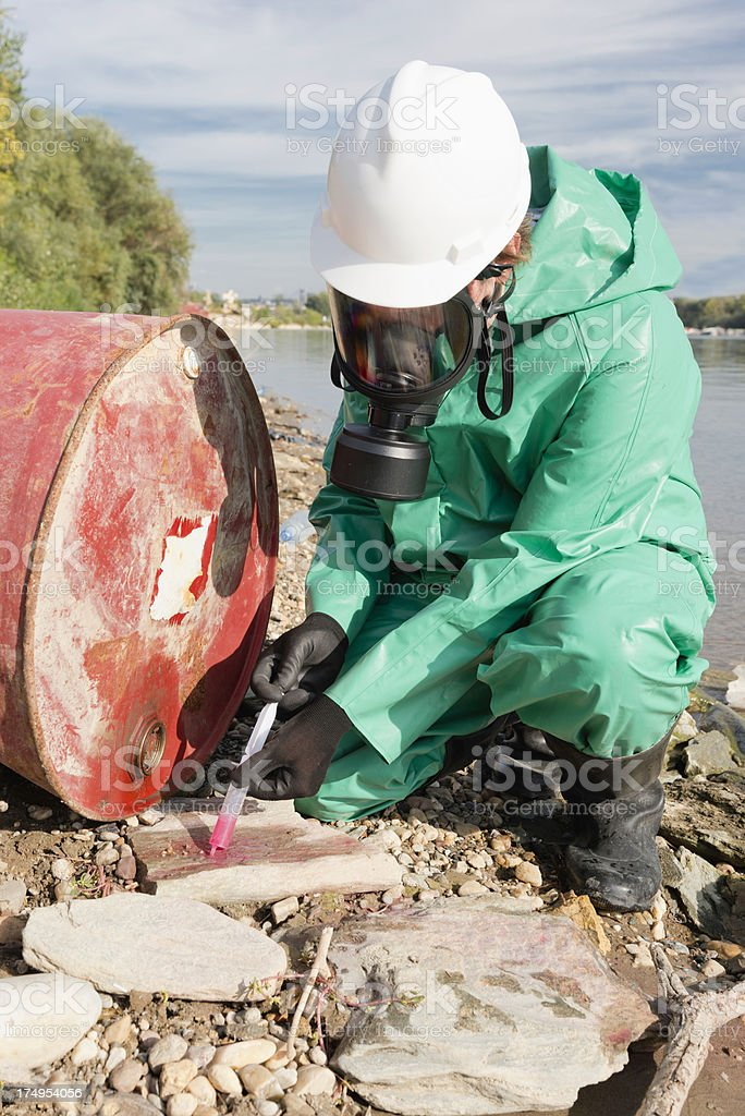 Environmental field work royalty-free stock photo