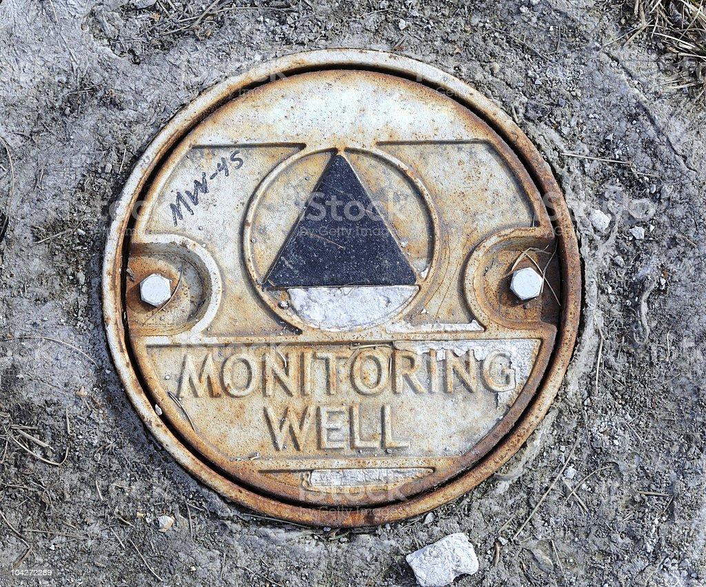 Environmental Monitoring Well stock photo