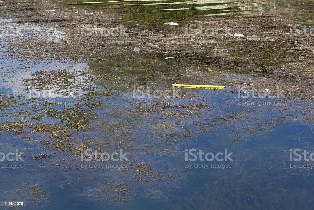 environmental pollution, and waste water royalty-free stock photo