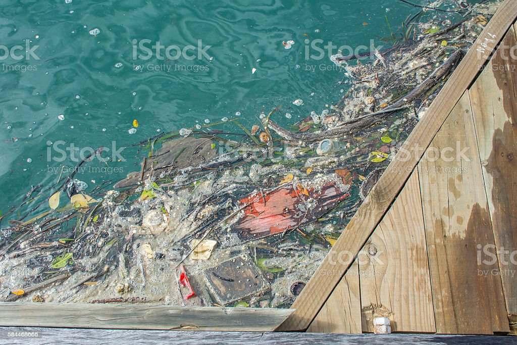 Environmental problem of waste water stock photo